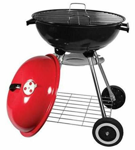 Red Classic Large 18x31 Charcoal Grill Portable