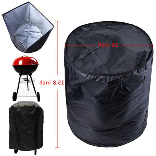 Round BBQ Grill Cover For Weber Smokey Joe Silver Serving 14