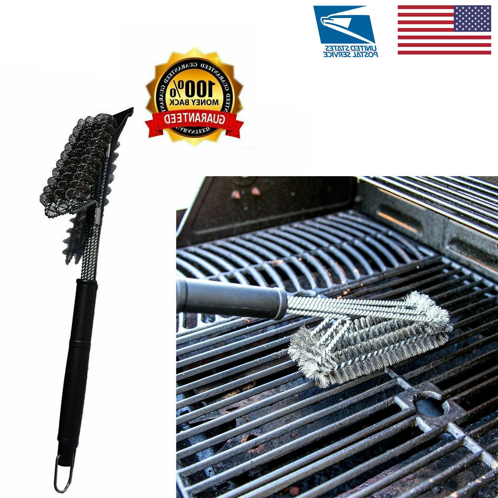 Safe/Clean Grill Brush ~ Bristle Free Barbecue Grill Brush -