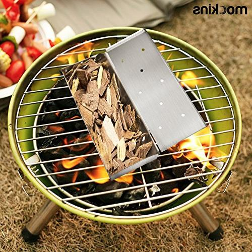 Mockins Steel Smoker for Barbecue Gas Or Grills