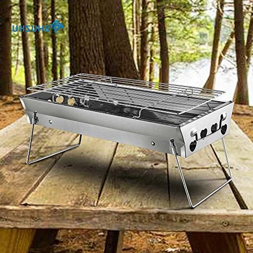 Shuzhu Tabletop Foldable Mini Stainless for Cooking Hiking Tailgating