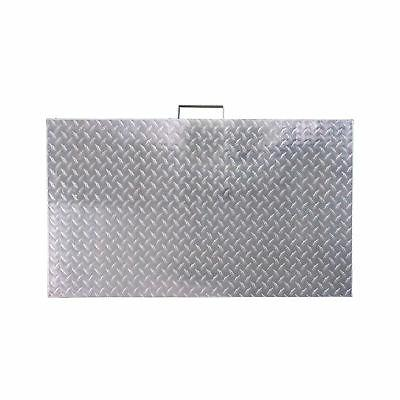 titan diamond plated aluminum grill cover fits