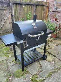 Large Charcoal BBQ Grill Side Vents Pan Temp Control Patio D