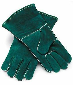 LEATHER FRYER GLOVES FOR BBQ GRILL MEAT PAN HANDLING SMOKER