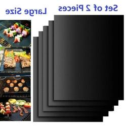 Lot of 2 Large Size Mats Easy BBQ Grill Mat Bake NonStick Gr