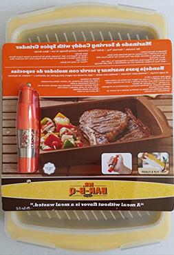 Mr. Bar-B-Q Marinade and Seving Caddy with Spice Grinder