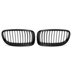 uxcell Matte Black Front Kidney Grill Grille For 09-11 BMW E