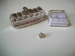 Men's Silver Finish Crown Grillz For 1Teeth Hip Hop Mouth Gr