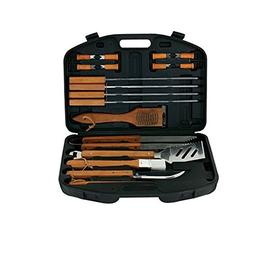 Mr. Bar-B-Q 94001X 18-Piece Stainless-Steel Barbecue Set wit