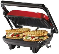 *NEW* Hamilton Beach 25462Z Durable Panini Press Gourmet San