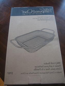 New Pampered Chef BBQ Grill Basket #2707  Stainless Steel 11