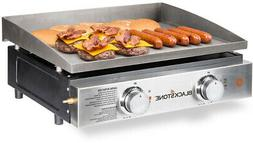 """NEW Blackstone 22"""" 2-Burner Tabletop Griddle Grill With Cove"""