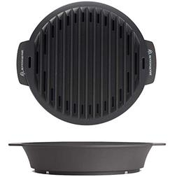 WaxonWare Non Stick Stove Top Smokeless 12 Inch Indoor BBQ G