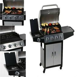 ON CLEARANCE PRIME Propane Gas BBQ Grill with Side Burner fo