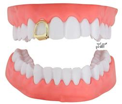 Open Face Grill Single Tooth Cap Custom Fit 14k Gold Plated