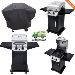 Outdoor 2-Burner Gas Grill BBQ w/ Cabinet Storage & Side She