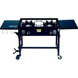 Outdoor Camping Propane Double Burner Stove Cooking Station
