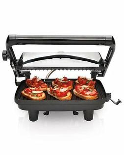 Hamilton Beach Panini Press Gourmet Sandwich Maker Grill Foo