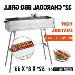 Party Griller 32 Stainless Steel Charcoal Grill Yakitori Gri