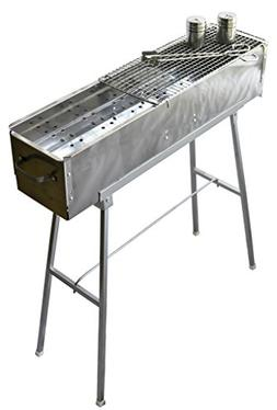 "Party Griller 32"" Stainless Steel Charcoal Grill – Porta"