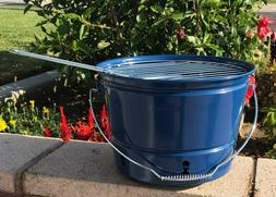 Coleman Party Pail Charcoal Grill Blue