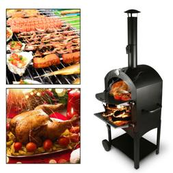 Outdoor Stainless Steel Pizza Oven Used Wood Fired Delicious
