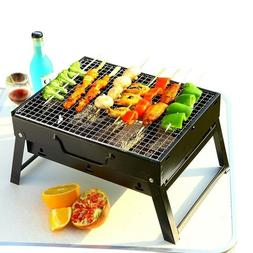 Portable BBQ Charcoal Grill Outdoor Folding Barbecue Rack Fo