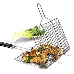 Volibel Portable BBQ Grilling Basket Stainless Steel Outdoor