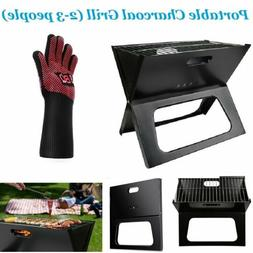 Portable Charcoal Barbecue BBQ Grill Outdoor Camping Cooker