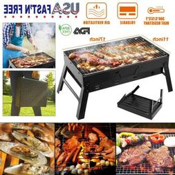 Portable Charcoal Grill BBQ Smoker Barbecue Stove Foldable O