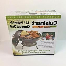 "Cuisinart 14"" Portable Charcoal Grill, Black"