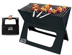 BBQCroc Portable Easy Grill - Premium Foldable Charcoal Barb