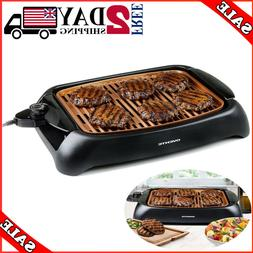 Portable Electric Grill BBQ Indoor Outdoor Smokeless Griddle