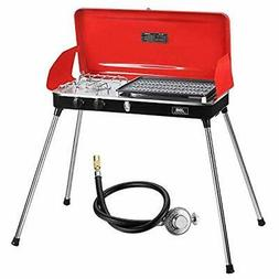 Portable Grill For Outdoor Grilling And Camping, Gas With Ho