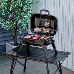 portable tabletop charcoal grill bbq camping picnic