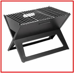 potable folding notebook charcoal grill simple two