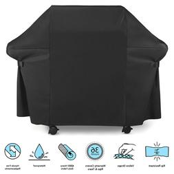 Premium  Black BBQ Grill Cover - Rip-Proof, UV & Water-Resis