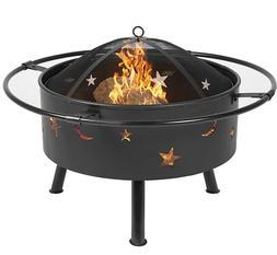 "Best Choice Products 30"" Fire Pit BBQ Grill FireBowl Firepla"