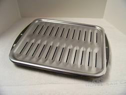 """Range Porcelain Broiler Pan with Stainless Steel Grill 16.5"""""""