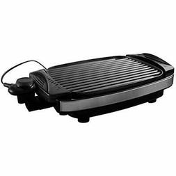 Ovente Reversible Electric Grill And Heat Tempered Glass Cov