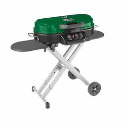 Coleman RoadTrip 285 Portable Stand-Up Propane Grill, Green
