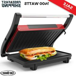 Sandwich Maker Panini Press Gourmet Nonstick Plates Indoor G