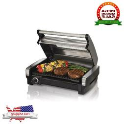 Hamilton Beach Searing Grill with Lid Viewing Window Smokele