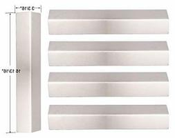 BBQ funland Set of 5 Stainless Steel Heat Plates Replacement