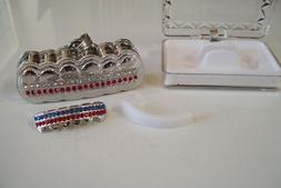 Silver finish Grill For Botom Teeth Hip Hop Bling Mouth Gril