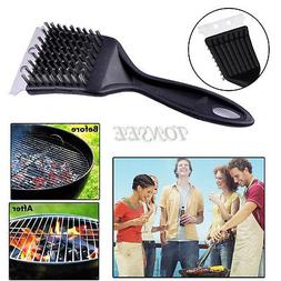 Stainless Steel BBQ Grill Cleaning Cooking Tool Brush Outdoo