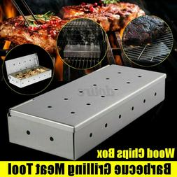 Stainless Steel Cold Smoke Generator BBQ Burn Smoker Box Gri