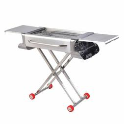 Stainless Steel Folding Portable Barbecue Charcoal Grill for