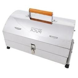 stainless steel portable charcoal grill