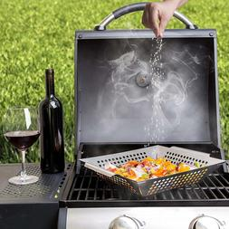 Grill Basket Outdoor Grilling Accessories Wok Topper Veggies